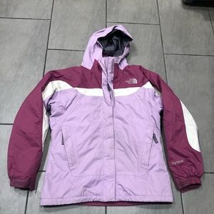 Northface Jacket Hoodie Raincoat Girls Purple